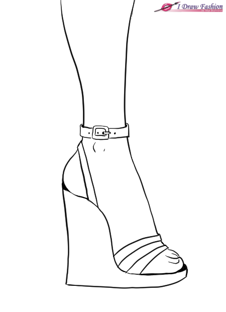 450x620 How To Draw Wedges Shoes I Draw Fashion