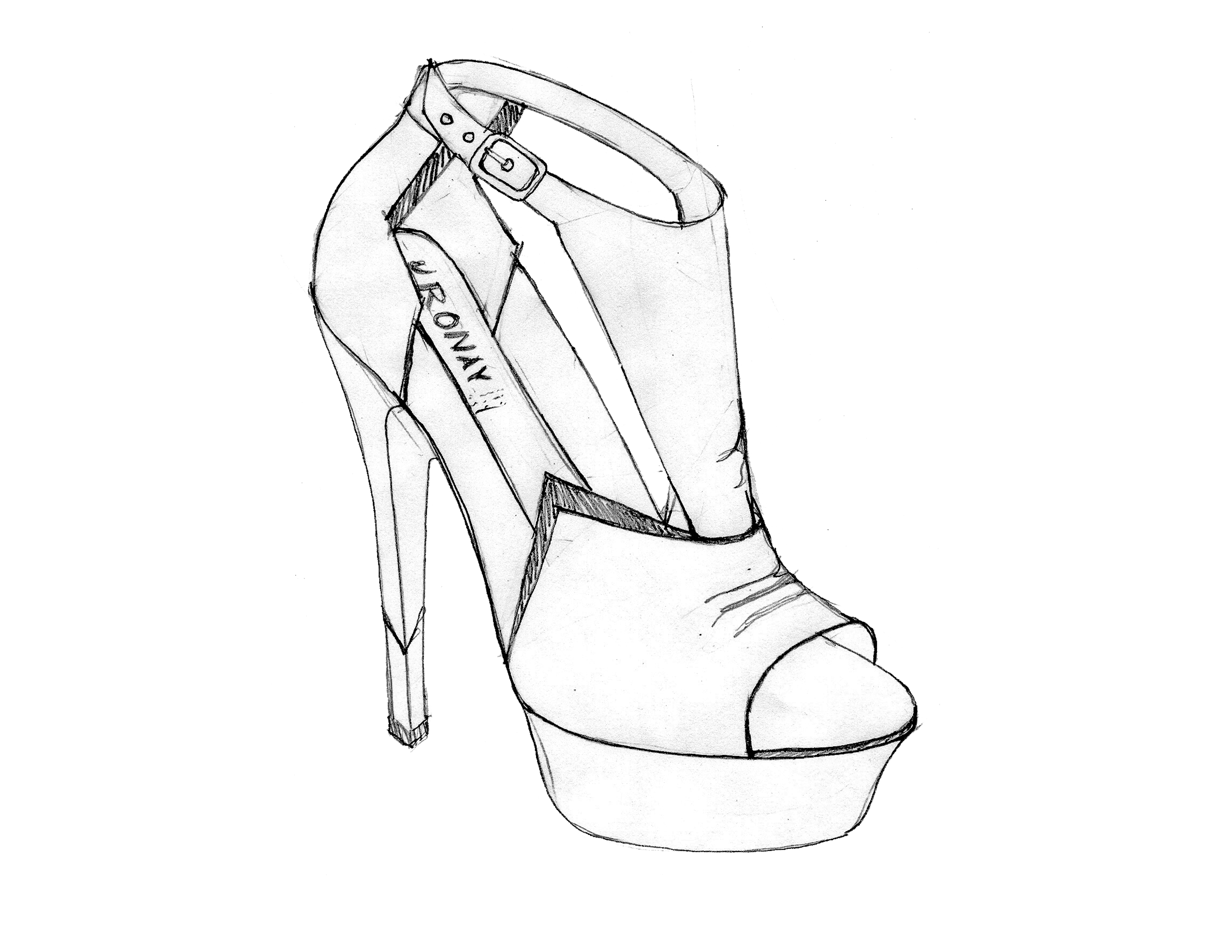 It is an image of Insane Shoe Design Drawing