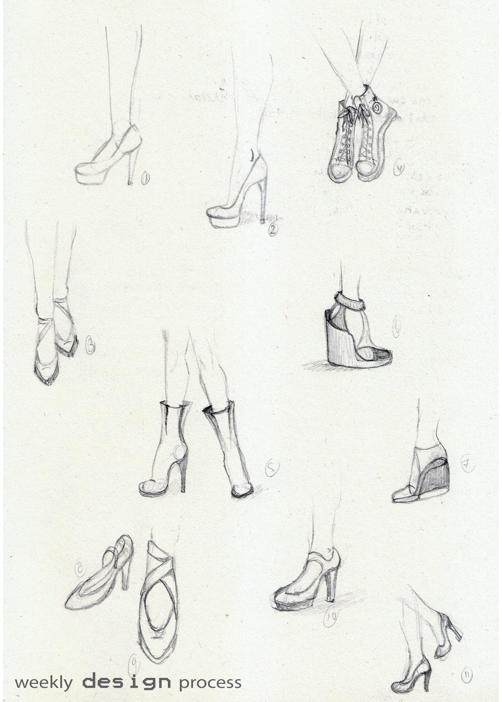 1701x2381 Week 38 Drawing Shoes And Feet Weekly Design Process