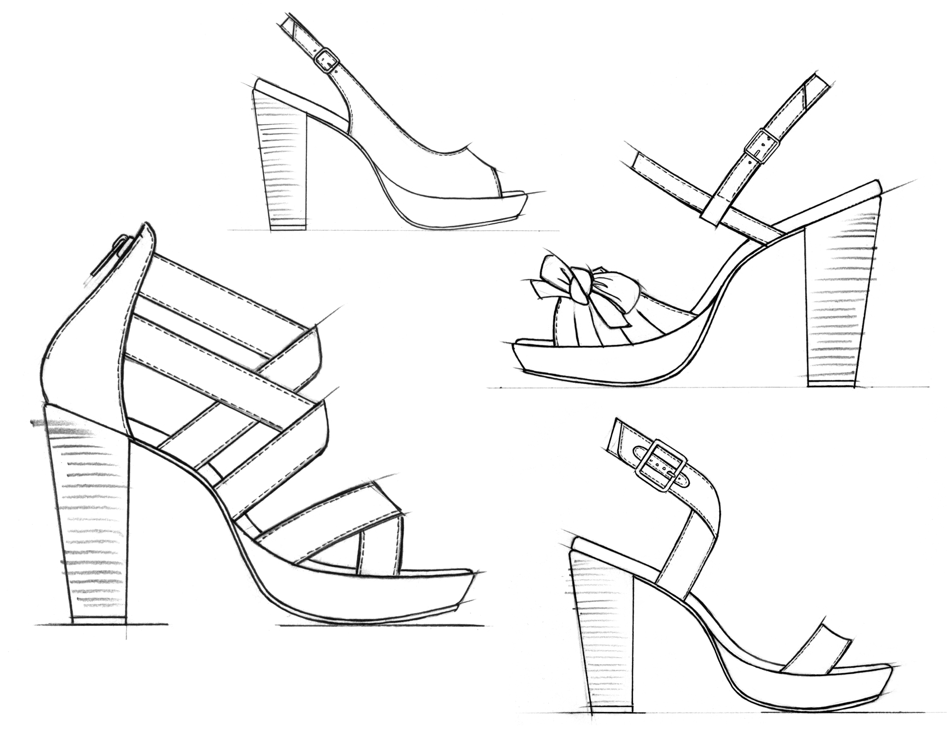 It is an image of Tactueux Shoe Design Drawing