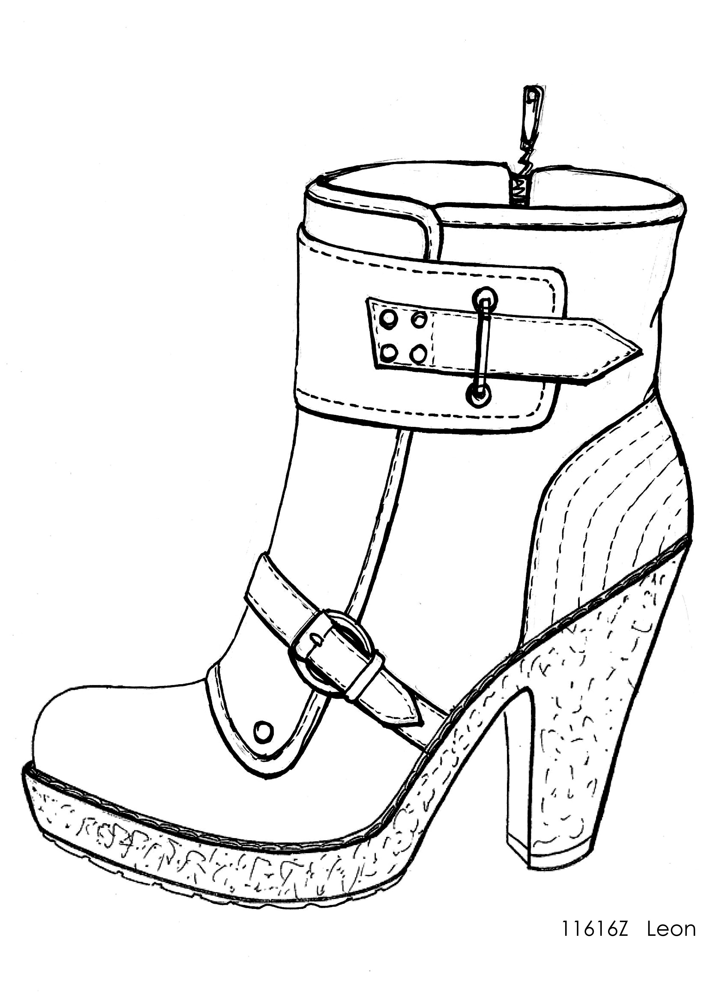 2479x3508 Designer Shoe Sketches