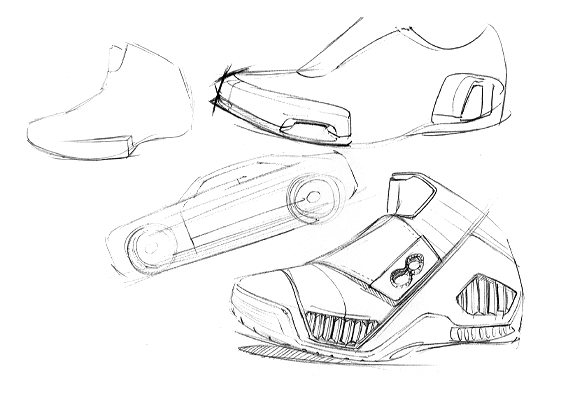 563x401 Automotive, Industrial Product And Footwear Design Sketches By
