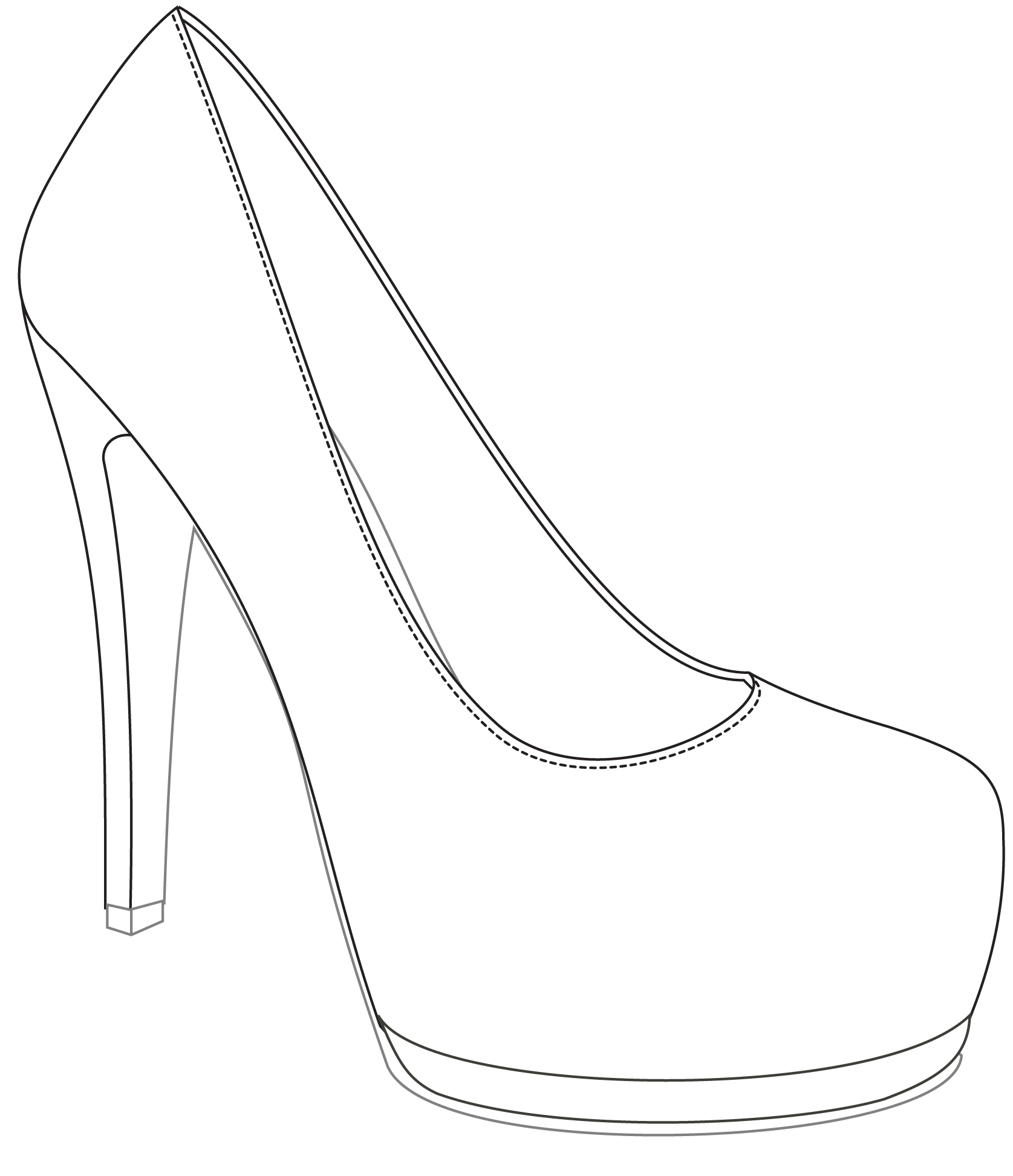 It is a photo of Massif Shoe Design Drawing