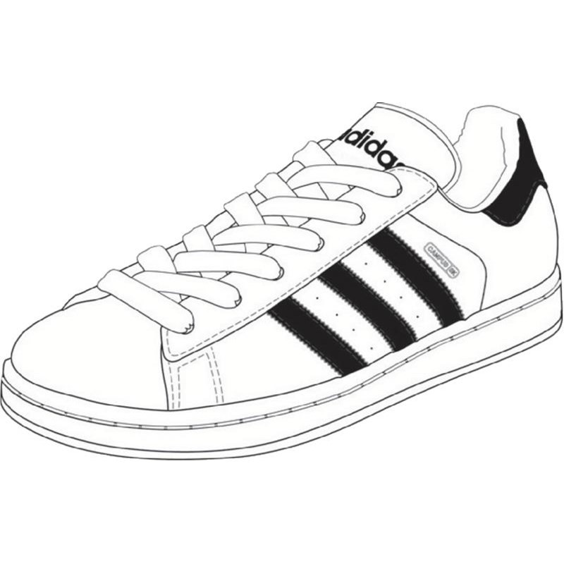 ... Black And White Painting. 800x800 adidas shoes drawing