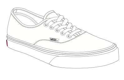 Shoes From The Front Drawing