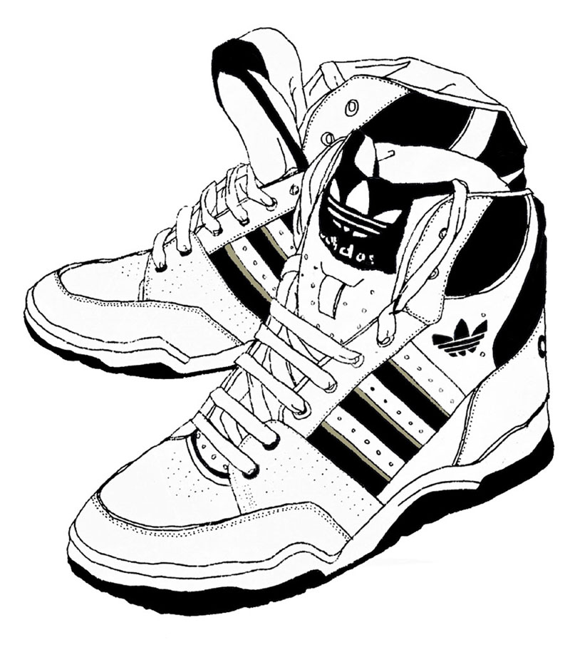 800x915 shoes drawing