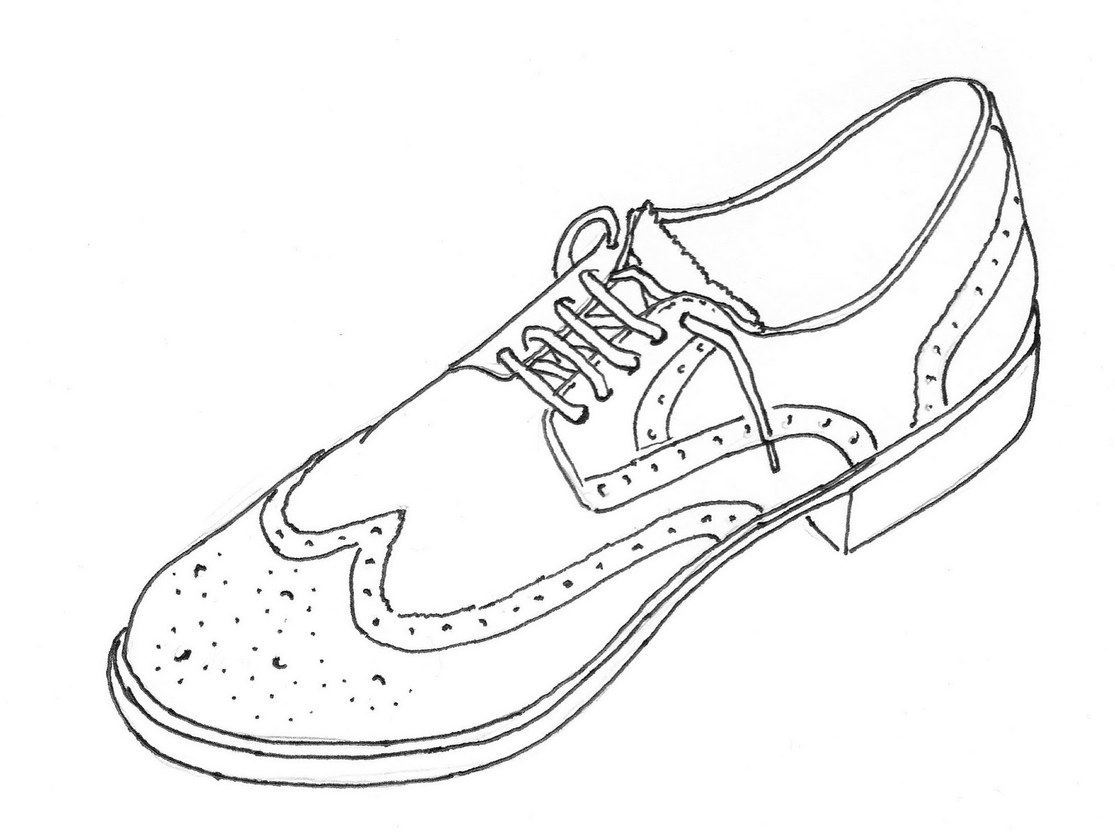Shoes Line Drawing
