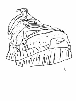 250x333 Second Grade's Contour Line Shoes Created On The Ipads