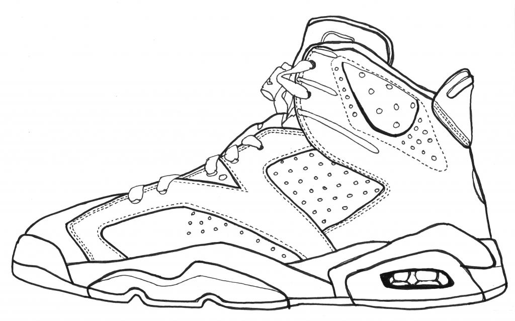 1024x638 Air Jordan Shoe Drawings