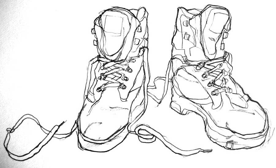 900x549 Contour Line Drawing Shoes Brian Cho