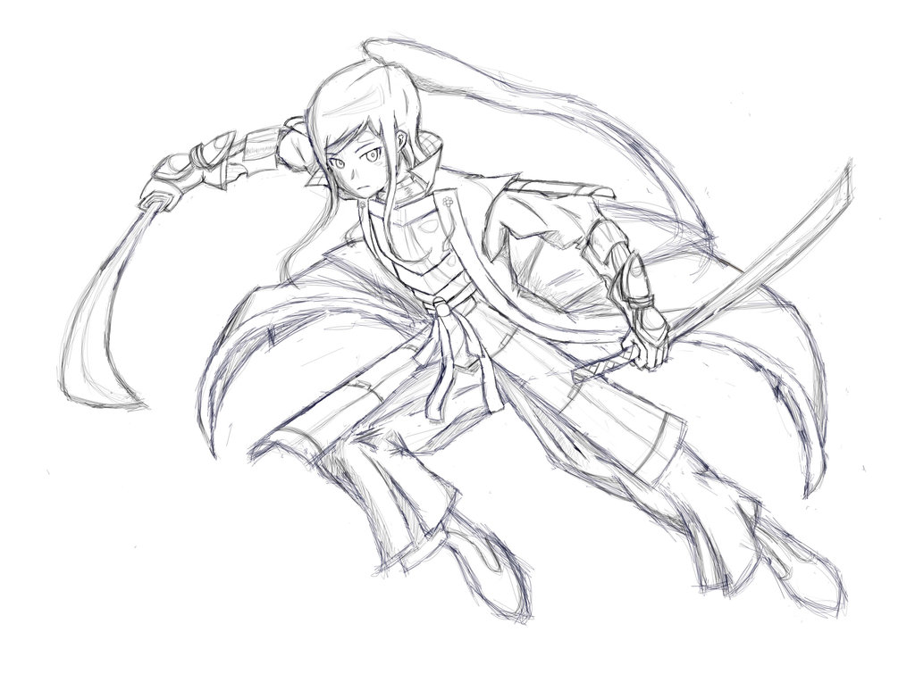 1024x755 Etrian Odyssey 3 Shogun (Sketch) By Passionheartz