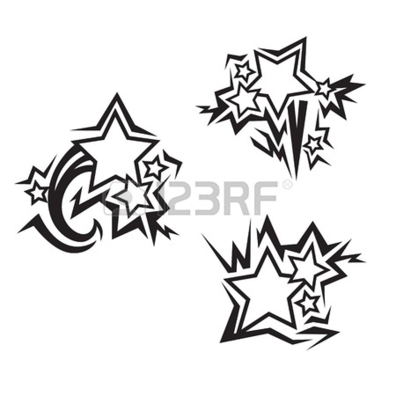 1350x1350 Graffiti Star Drawing How To Draw A Shooting Star Step 6 Stars