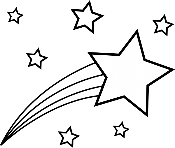 600x508 Impressive Shooting Star Coloring Page For Kid