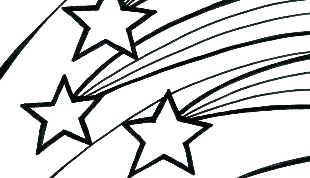 1000x576 Stars For Coloring Shooting Star Coloring Pages Printable Pictures