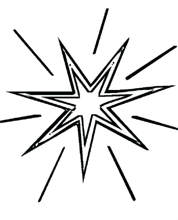 600x741 Shooting Star Coloring Page