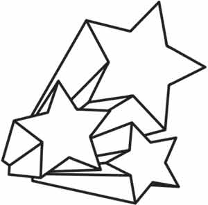 300x296 Stars And Swirls Paper Embroidery Found In Sky Shooting Stars