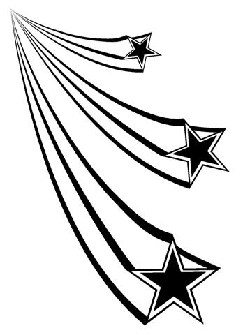 348x480 Shooting Stars 1 Decal Sticker