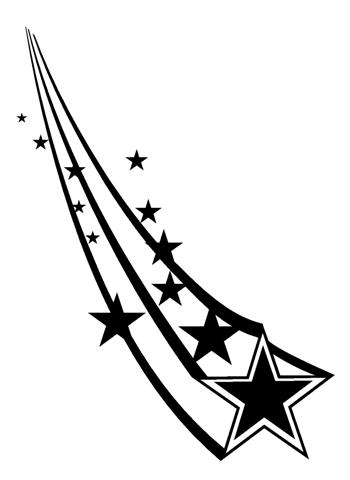 350x480 Shooting Stars 2 Decal Sticker