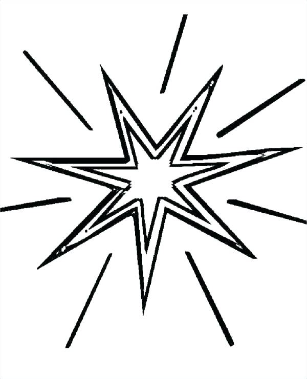 600x741 Shooting Star Coloring Pages