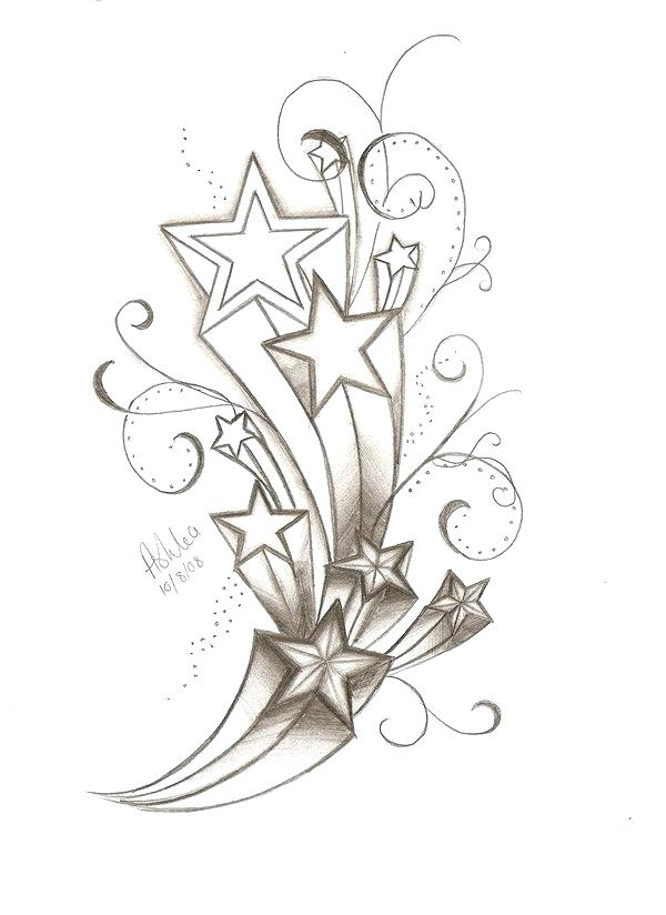 600x824 Shooting Star Tattoo Designs For Men