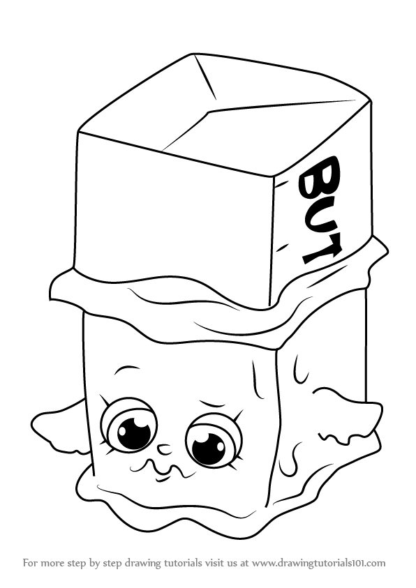 596x843 Learn How To Draw Buttercup From Shopkins (Shopkins) Step By Step