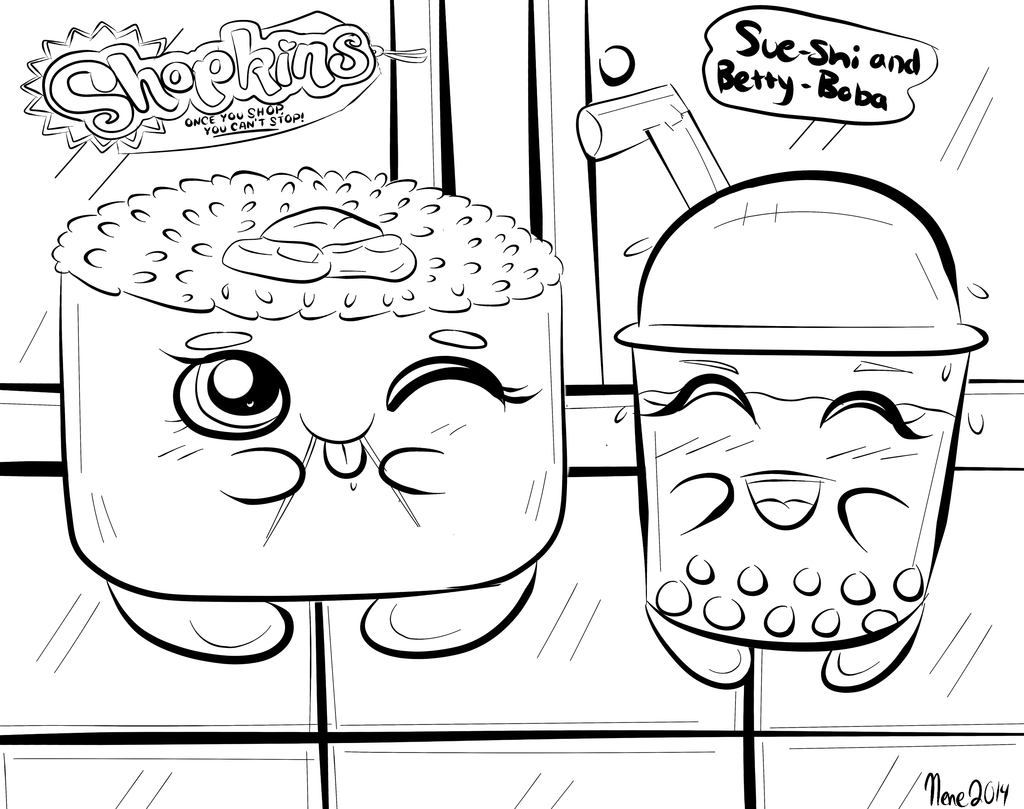 1024x809 Shopkins Coloring Page D Designed By Nene Nenesheep On