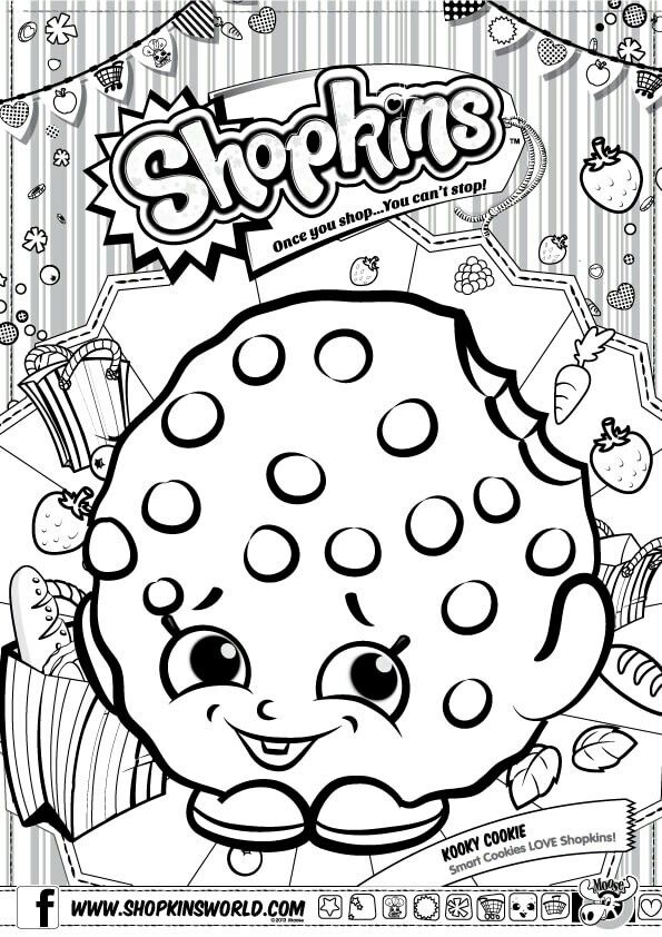 Shopkins Drawing Pages