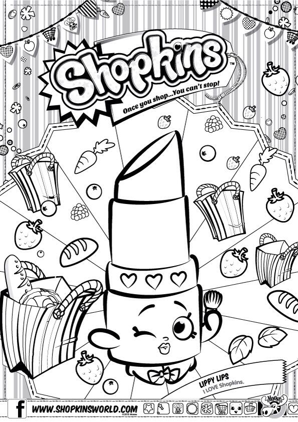 595x842 Shopkins Colour Color Page Lippy Lips ShopkinsWorld