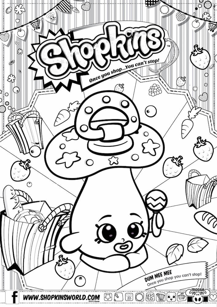 707x1000 Shopkins Coloring Pages