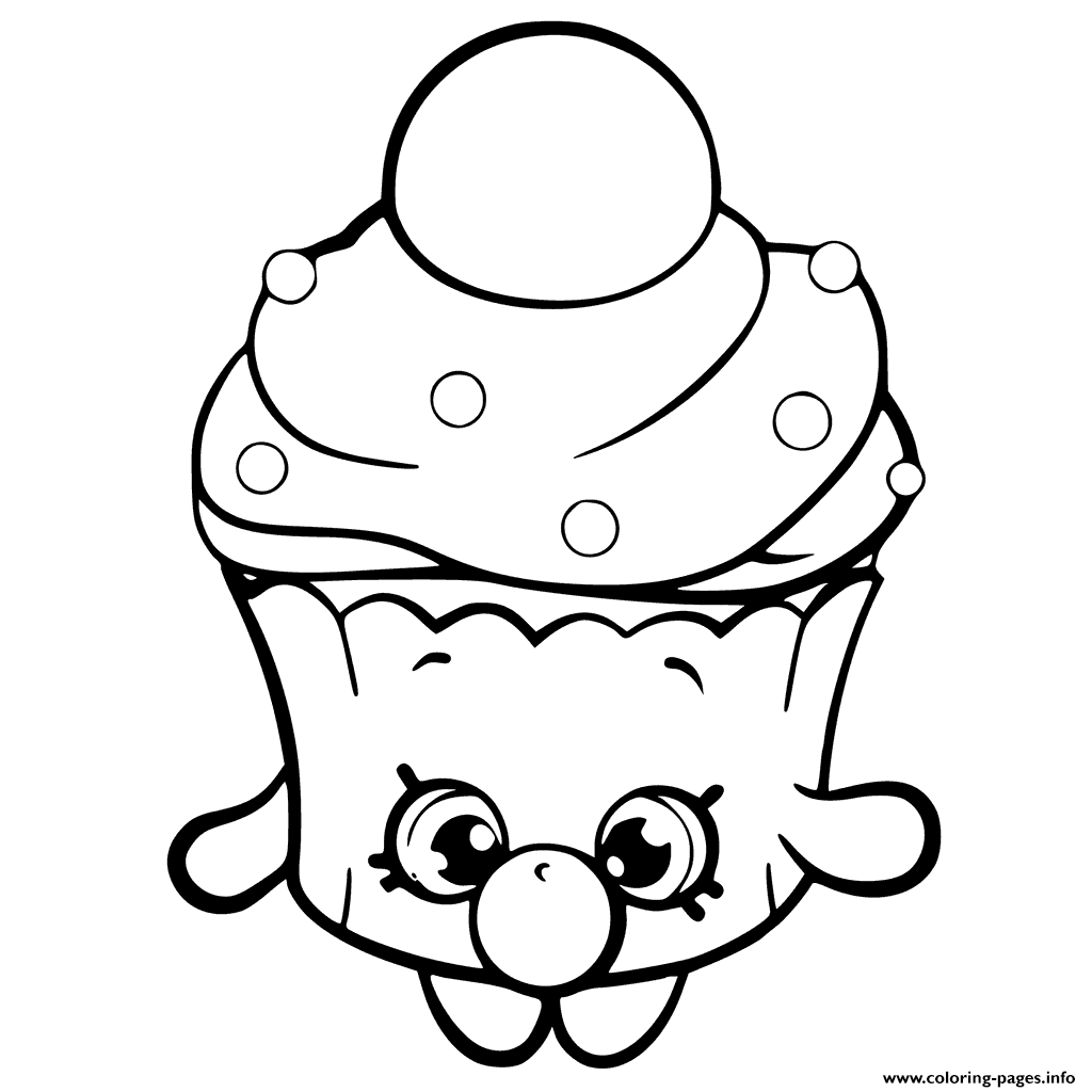 1024x1024 Print Bubble Cupcake Shopkins Season 6 Coloring Pages