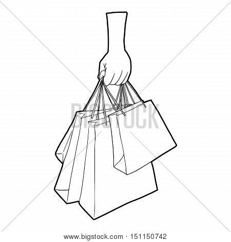 450x470 Hand Holding Shopping Bags Icon. Vector Amp Photo Bigstock