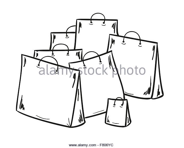 640x513 Paper Shopping Bag Sketch Stock Photos Amp Paper Shopping Bag Sketch