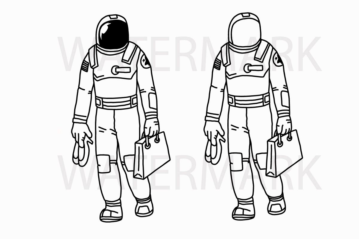 1200x800 Shopping Astronaut Holding Shopping Bag Design Bundles