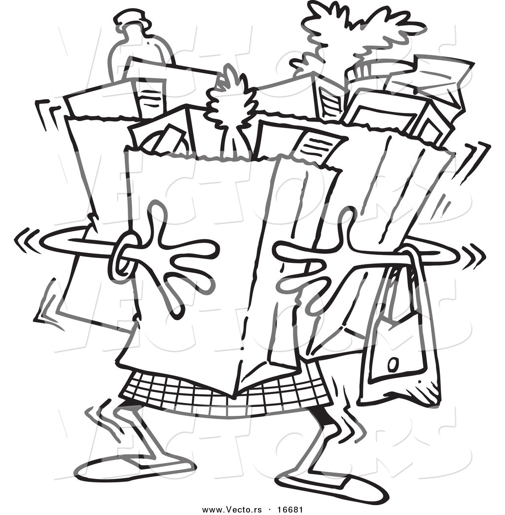 1024x1044 Shopping Bags Cartoon Coloring Pages Travel Coloring Pages