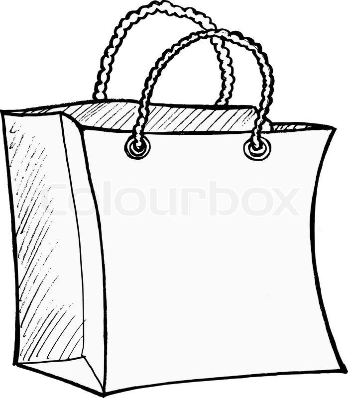 699x800 Shopping Bag Stock Vector Colourbox