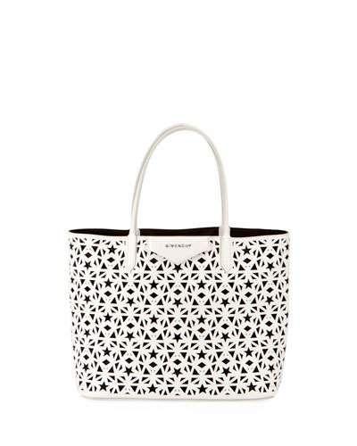 400x500 Givenchy Antigona Small Star Perforated Shopping Tote.