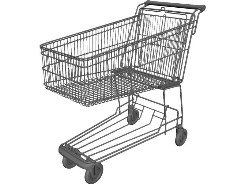 800x600 Shopping Trolley 3d Model