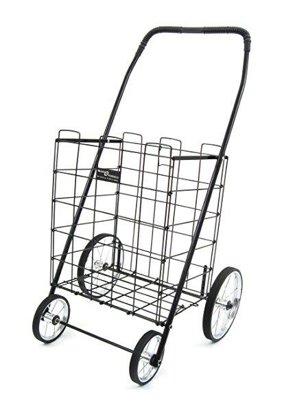 430x587 Easy Wheels Shopping Cart Mitey, Black Home Amp Kitchen