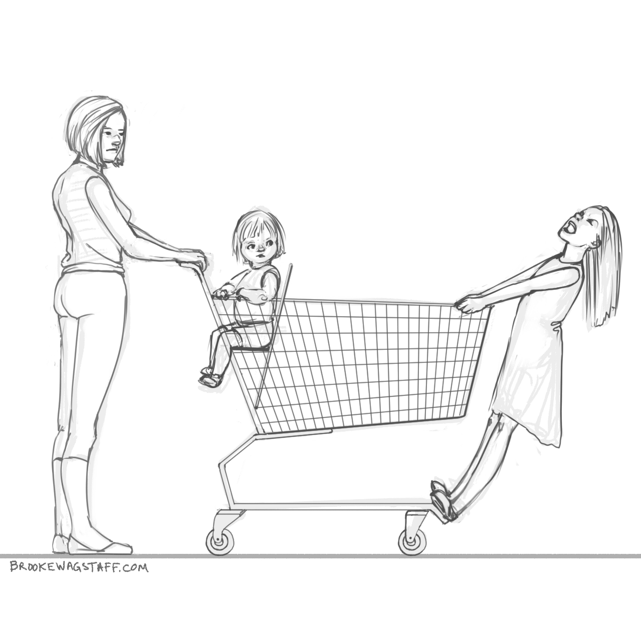 1280x1280 June 2015 Memory Drawings Today I Saw A Tired Mother Shopping
