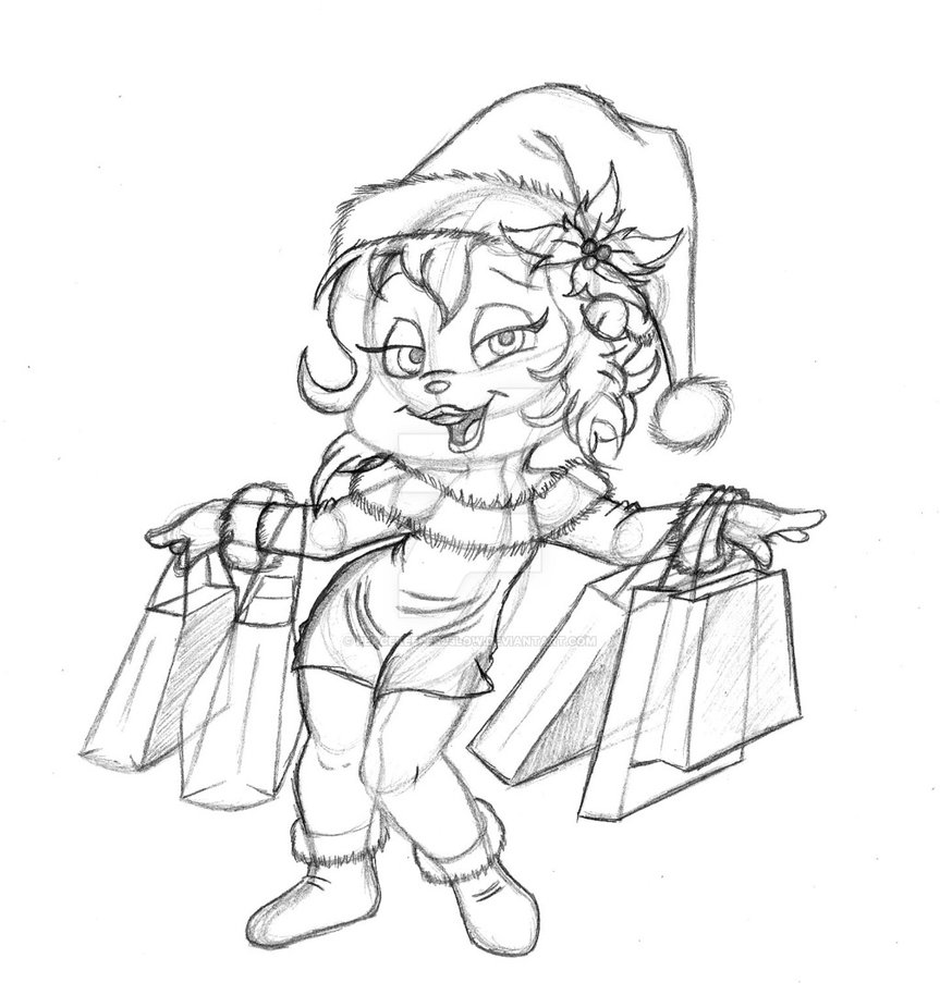 863x925 Christmas Shopping Brittany (Sketch) By Peacekeeperj3low