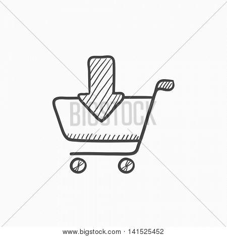 450x470 Online Shopping Cart Vector Sketch Vector Amp Photo Bigstock