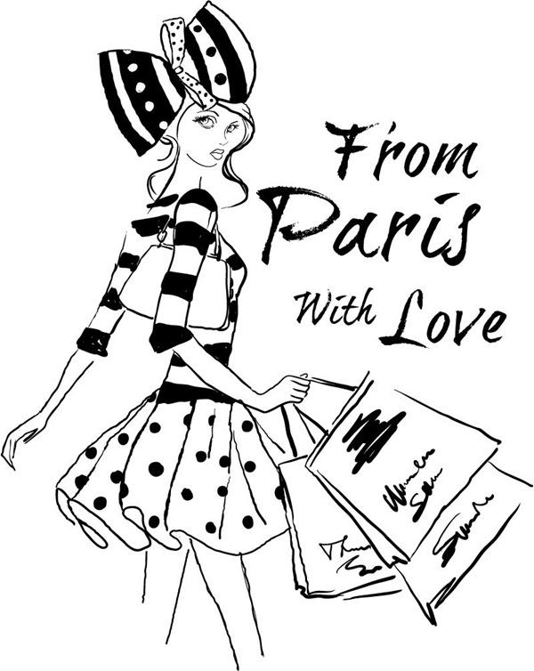 600x754 Paris Drawing Fashion