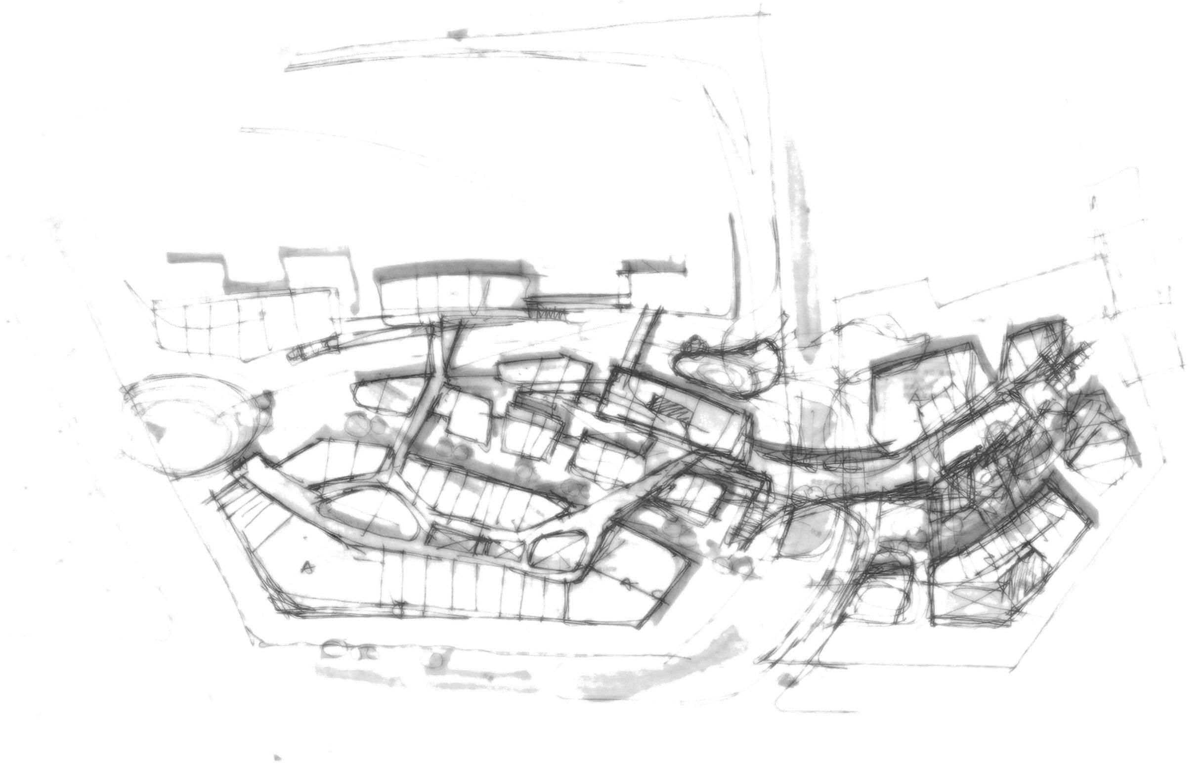 2436x1554 Retail Plan Concept Architecture Sketches L Randy Carizo