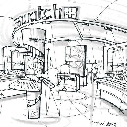 Shops Drawing