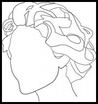 200x211 How To Draw Curly Hair And Afro Ethnic Hair Drawing Tutorials