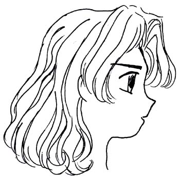 Draw Curly Hair For Girls Drawing Tutorial How To Draw And Color