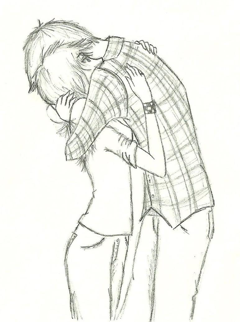 772x1034 Girl Hugging From Behind Sketch Boy Hugging Girl From Behind Cute
