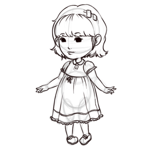 500x500 How To Draw A Girl (With Pictures)