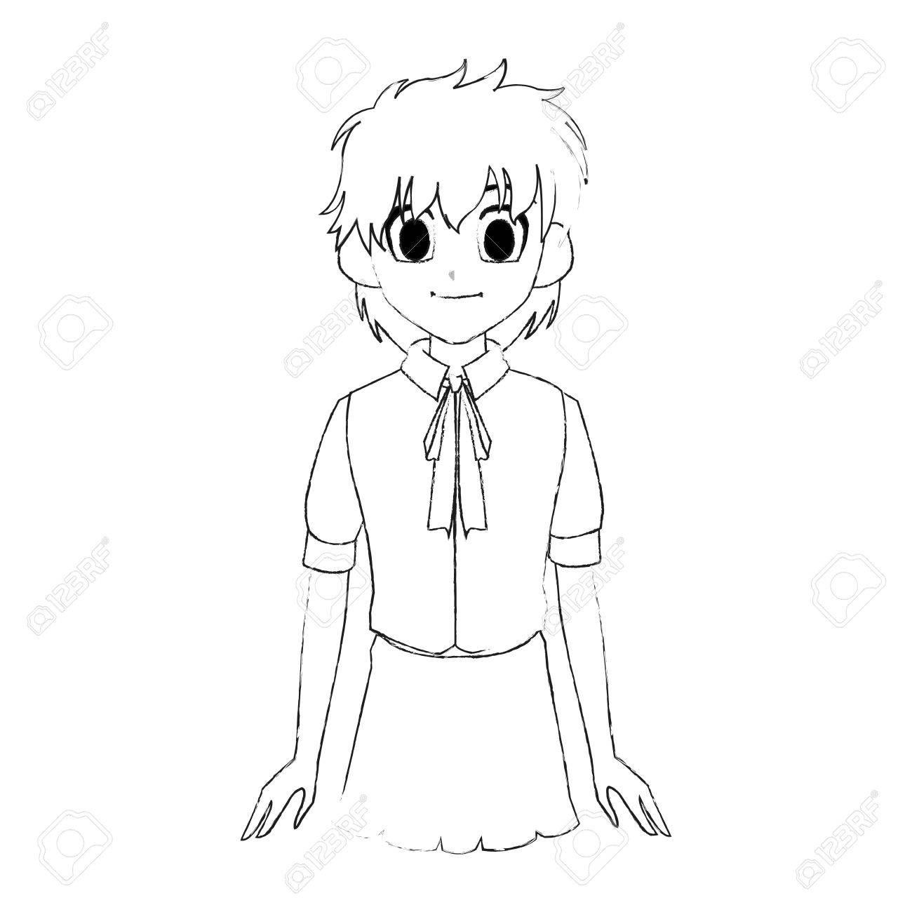 1300x1300 Cute Young Girl With Short Scruffy Hair Wearing School Uniform