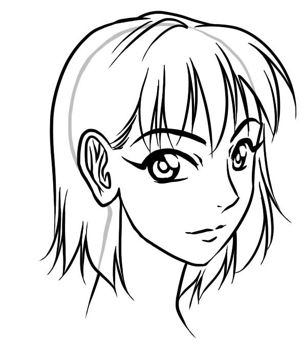 592x681 Basic Manga Hair Hair Styles Manga Hair, Inspiring